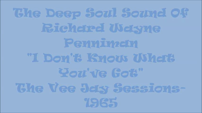"Little Richard - ""A Deep Soul Tribute"" - Little Richard Arrived Like A Blast Furnace Of Black and Blue Power In 1956. But His Vocal Prowess Was At It's Soulful Crest During The Vee - Jay Record Sessions of 1965"